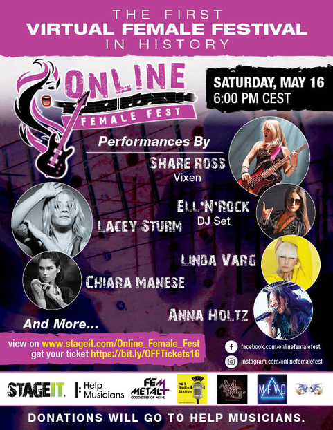 Flyer Online Female Fest